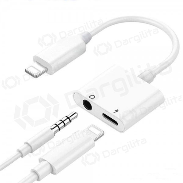 Adapteris bluetooth ADP13 iš Lightning į Lightning + 3,5mm (baltas)
