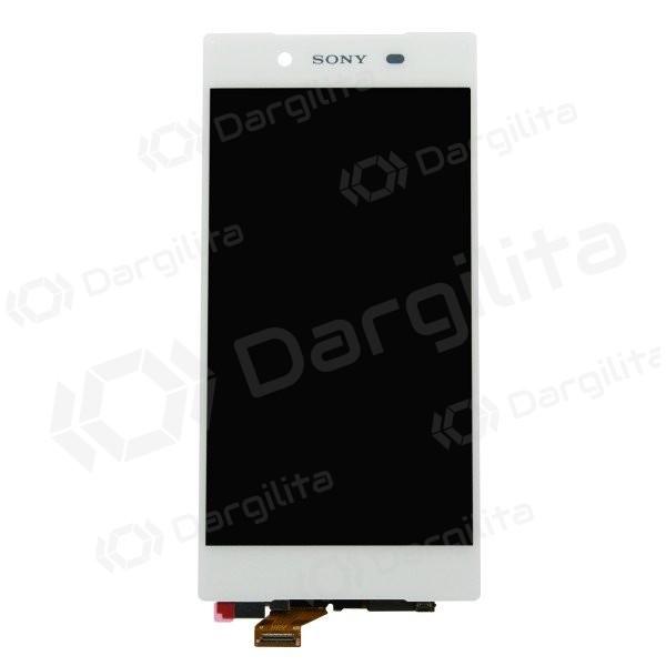 Sony Xperia Z5 E6603 / Xperia Z5 E6653 / Xperia Z5 Dual E6683 LCD ekranas su liečiamu stikliuku (baltas) (originalus)