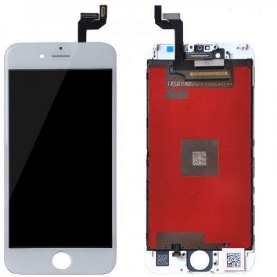Apple iPhone 6S LCD ekranas su liečiamu stikliuku (baltas) (aukšta kokybė)