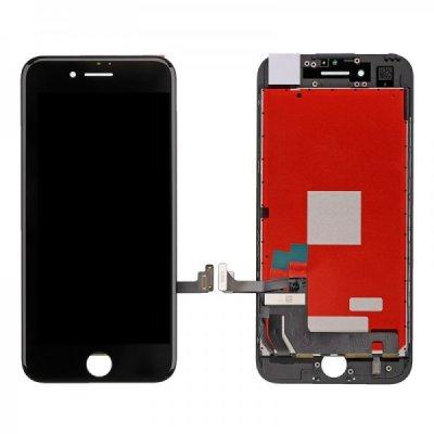 Apple iPhone 7 LCD ekranas su liečiamu stikliuku (juodas) (aukšta kokybė)