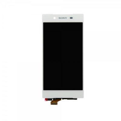 Sony Xperia Z5 E6603 / Xperia Z5 E6653 / Xperia Z5 Dual E6683 LCD ekranas su liečiamu stikliuku (baltas) (aukšta kokybė)