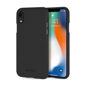 "Apple iPhone X / XS dėklas Mercury Goospery ""Soft Feeling Jelly Case"" (juodas)"