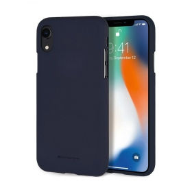 "Apple iPhone XS Max dėklas Mercury Goospery ""Soft Feeling Jelly Case"" (tamsiai mėlynas)"