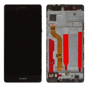 Huawei P9 LCD display with touch screen (with frame) (black) (HQ)