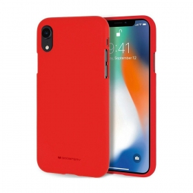"Apple iPhone XR dėklas Mercury Goospery ""Soft Feeling Jelly Case"" (raudonas)"